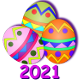 Icon: Found the most eggs in their Town during the <b>Easter Egg Hunt Event</b> of <b>2021</b>