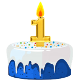 Icon: Congratulations with your <b>First Birthday</b>