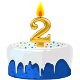 Icon: Congratulations with your <b>Second Birthday</b>
