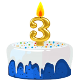 Icon: Congratulations with your <b>Third Birthday</b>