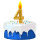 Icon: Congratulations with your <b>Fourth Birthday</b>