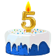 Icon: Congratulations with your <b>Fifth Birthday</b>