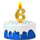 Icon: Congratulations with your <b>Sixth Birthday</b>