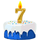 Icon: Congratulations with your <b>Seventh Birthday</b>