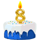 Icon: Congratulations with your <b>Eighth Birthday</b>