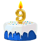 Icon: Congratulations with your <b>Ninth Birthday</b>