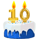 Icon: Congratulations with your <b>Tenth Birthday</b>