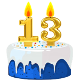 Icon: Congratulations with your <b>Thirteenth Birthday</b>