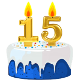 Icon: Congratulations with your <b>Fifteenth Birthday</b>