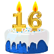 Icon: Congratulations with your <b>Sixteenth Birthday</b>