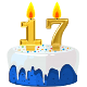 Icon: Congratulations with your <b>Seventeenth Birthday</b>