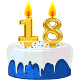 Icon: Congratulations with your <b>Eighteenth Birthday</b>
