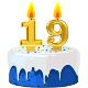 Icon: Congratulations with your <b>Nineteenth Birthday</b>
